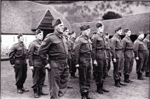 Fingest Section of the Home Guard on parade at Manor Farm
