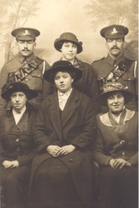 "Albert ""Vic"" (left) and Thomas ""Tack"" Prince with their two youngest sisters, Daisy and Alice (centre top and bottom) and cousins May and Miriam Prince (Front left and right)."