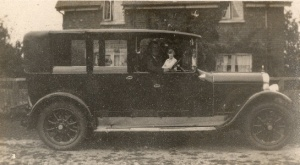 Albert Prince in his Armstrong Siddeley                   saloon at Turville Heath