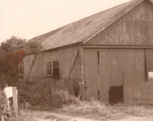 The redundant Dormy Shed prior to being dismantled